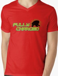Fully Charged Mens V-Neck T-Shirt