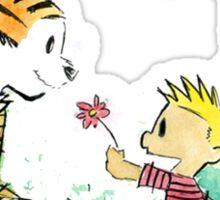 calvin and hobbes sakura Sticker