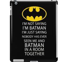 Batman Room Funny Quote Dark Knight Logo Robin Gotham iPad Case/Skin