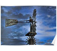 Windmill at Rolling Hills Poster