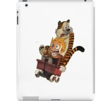 calvin and hobbes scare iPad Case/Skin