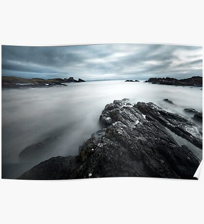 Troubled Waters - Clachtoll Bay Scotland Poster