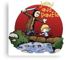 calvin and hobbes jason Canvas Print