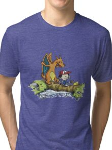 calvin and hobbes dragon Tri-blend T-Shirt
