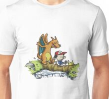 calvin and hobbes dragon Unisex T-Shirt