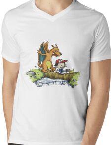 calvin and hobbes dragon Mens V-Neck T-Shirt
