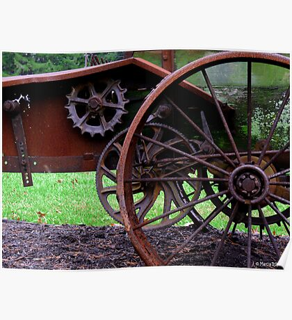 Antique Manure Spreader  Poster