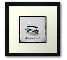 Son of a bench Framed Print