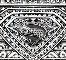 Hope sign Black and white Aztec Pattern by Galih Sanjaya Kusuma wiwaha