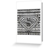 Hope sign Black and white Aztec Pattern Greeting Card