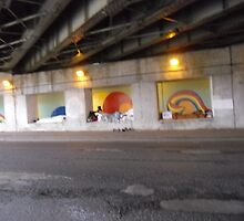 TEMP 32 sleeping under by pass by activtist