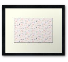 Seamless pattern with word love Framed Print