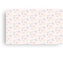 Seamless pattern with word love Canvas Print