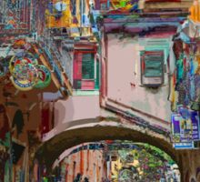 All About Italy. Piece 12 - Monterosso Houses Sticker