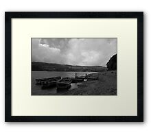 Sitting on the dock of the bay...well actually its not a dock,or a bay and there not really sitting there floating but you get the picture. Framed Print