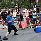 Street Juggler by Usha Ganesh