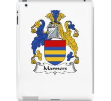 Coat of arms (family crest) for last-name or surname Manners . Heraldry banner for your name. iPad Case/Skin