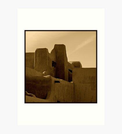 Adobe~ Santa Fe, New Mexico Art Print