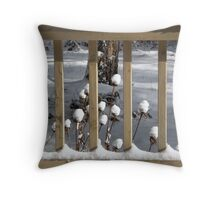 Snow Coneflowers Throw Pillow