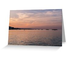 Sunset on the beach - Italy  Greeting Card