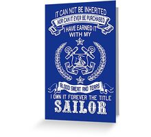 SAILOR Greeting Card
