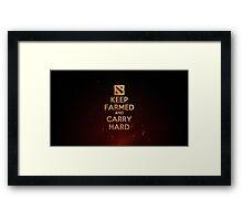 Keep farmed and carry Hard Framed Print