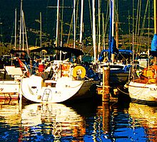 Yachting in Summerland by Josie Duff