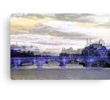 Parisian Mosaic - Piece 26 - La Seine Canvas Print