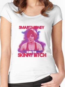 Smart Money Is On The Skinny Bitch Women's Fitted Scoop T-Shirt