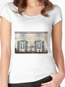New Orleans Windows and Doors III Women's Fitted Scoop T-Shirt