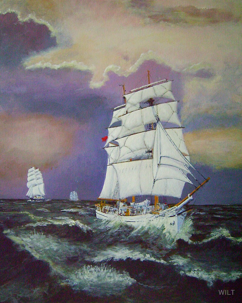 Astrid leads in the Tall Ships. by WILT