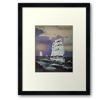 Astrid leads in the Tall Ships. Framed Print