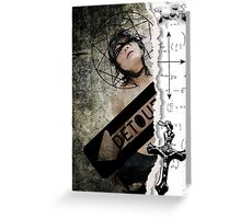 Detour...lost faith...confessions of a catholic girl Greeting Card