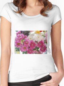 Colours of nature. Women's Fitted Scoop T-Shirt