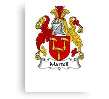 Coat of arms (family crest) for last-name or surname Martell . Heraldry banner for your name. Canvas Print