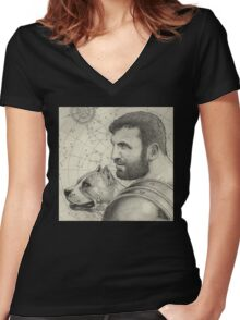 Orion and Sirius Women's Fitted V-Neck T-Shirt