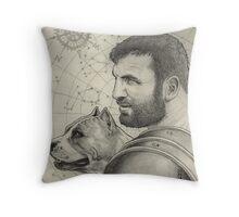 Orion and Sirius Throw Pillow