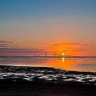 Sunrise at the Sunshine Skyway Bridge  HDR by MKWhite