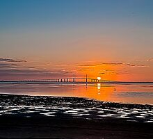 Sunrise at the Sunshine Skyway Bridge  HDR by MKWhite
