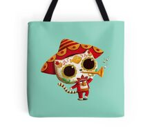 The Day of the Dead Cute Cat El Mariachi Tote Bag