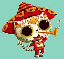 The Day of the Dead Cute Cat El Mariachi by colonelle
