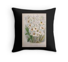 Iconagraphy of Orchids Iconographie des Orchidées Jean Jules Linden V4 1888 0026 Throw Pillow