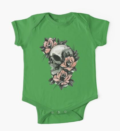 Skull and Roses One Piece - Short Sleeve