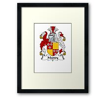 Coat of arms (family crest) for last-name or surname Massey . Heraldry banner for your name. Framed Print