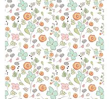 Elegant seamless pattern with flowers Photographic Print