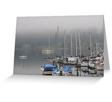 Longbranch marina, Washington state Greeting Card