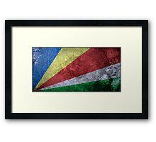 Seychelles Grunge Framed Print
