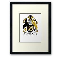 Coat of arms (family crest) for last-name or surname Matson . Heraldry banner for your name. Framed Print