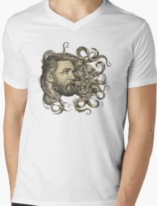 Poseidon Mens V-Neck T-Shirt