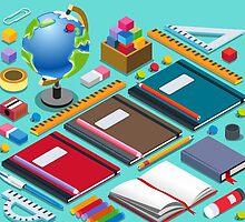 School Chancellery Set by aurielaki